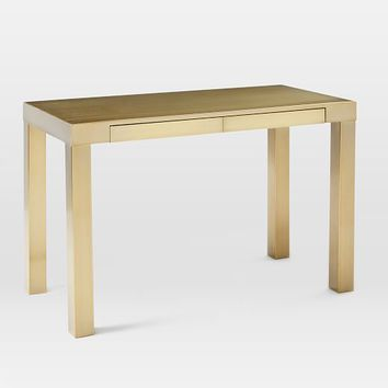 Parsons Desk - Blackened Brass