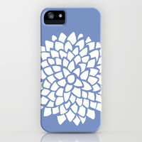 Blue Flower iPhone & iPod Case by Color and Form