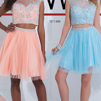 Two Piece Short Dress by Tony Bowls