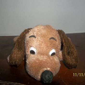 vintage dakin brown drooper puppy dog plush