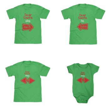 Dear Santa Green Shirts Available in Adult & Youth Sizes