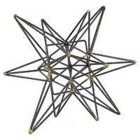 "Star Figurine Metal Tabletop Décor In Steel Finish - Gray (7.28""x8.27""x7.48"")"