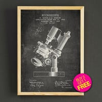 Microscope Patent Print Microscope Blueprint Poster House Wear Wall Art Decor Gift Linen Print - Buy 2 Get FREE -309s2g