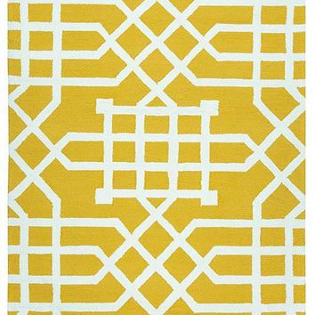 "Azzura Hill Collection Hand-Tufted Area Rug, 7'6"" x 9'6"", Yellow,White By Rizzy Home"