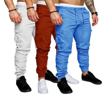 HEFLASHOR 13 Colors New Men Pants Hip  Joggers Fashionable Overalls Trousers Casual Pockets Camouflage Mens Sweatpants