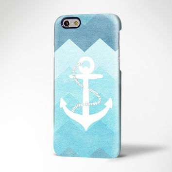 Blue Chevron White Anchor iPhone 6 Case,iPhone 6 Plus Case,iPhone 5s Case,iPhone 5C Case,4s,Samsung Galaxy S6 Edge/S6/S5/S4/S3/Note 2/3 Case
