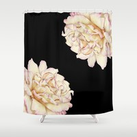 Roses - Lights the Dark Shower Curtain by drawingsbylam