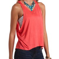 Dropped Armhole Oversized High-Low Muscle Tee