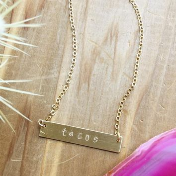 Tacos Necklace