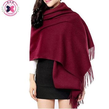 ONETOW 200cm*70cm Women Winter Stole Solid Color Scarves Tippet Wraps Brand Ladies Scarf Women Classic Neckerchief Shawls Scarves