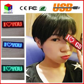 48*12 Red LED SMD sign scrolling text message name card tag display board advertising Rechargable programmable