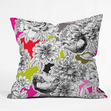 Mary Beth Freet Couture Home Floral 1 Throw Pillow