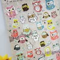 Owl Deco Sticker