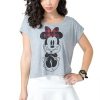 Minnie in Plaid Bow Tee