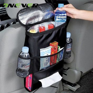 Onever Universal Car Seat Back Bag Organizer Insulated Food Storage Container Basket Stowing Tidying Bag Car Hanging Storage Bag