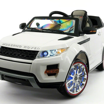 RANGE ROVER STYLE 12V KIDS RIDE-ON CAR MP3 BATTERY POWERED LED WHEELS RC REMOTE | WHITE