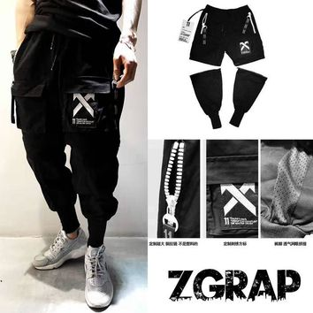 Freekiss Fashion Men Blac Cross Hip-Hop Stype Pants B-JJ-LHYCWM