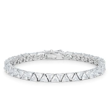 Freya Trillion Cut Tennis Bracelet - 7in | 28ct