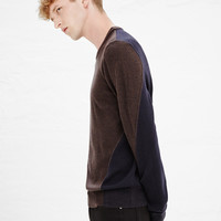 Totokaelo - Maison Martin Margiela Brown / Navy Knit Sweatshirt - $656.00