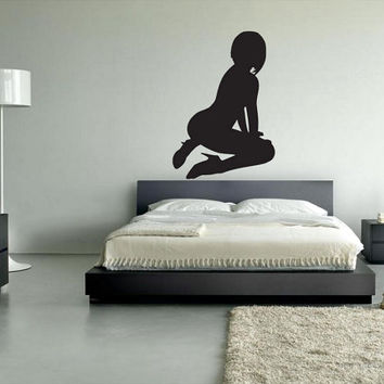 rvz031 Wall Vinyl Sticker Decals Naked Hot Sexy Girl
