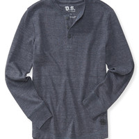 PS from Aero  Boys Long Sleeve Textured Thermal Henley