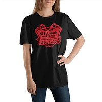 Chilling Adventures of Sabrina Spellman Mortuary Crew Neck Short Sleeve T shirt