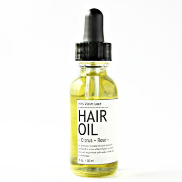 citrus HAIR OIL. vegan hair conditioner oil - citrus + rose