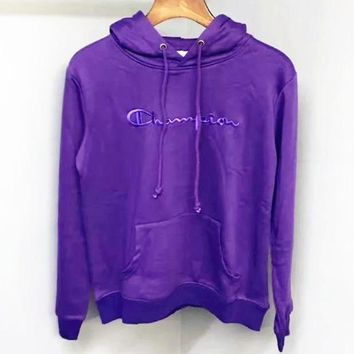 PEAPUF3 Champion  Fashion Casual Straps  Embroider Hooded Hoodies Sweatshirt Top A