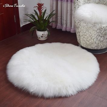 ISHOWTIENDA New 30*30CM Soft Artificial Sheepskin Rug Chair Cover Artificial Wool Warm Hairy Carpet Seat Fur Fluffy Area Rugs