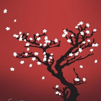 Vinyl Wall Decal Sticker Chinese Tree Blossom #628