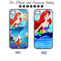 Little Mermaid,Disney,iPhone 5 case,iPhone 5C,iPhone 5S,Samsung Galaxy S3, Samsung Galaxy S4 Phone case,iPhone 4 Case, iPhone 4S Case