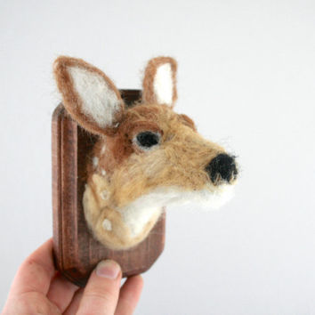 Faux Taxidermy White-tailed Fawn (Odocoileus virginianus)
