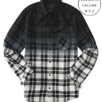 Aeropostale  Brooklyn Calling Gradient Plaid Woven Shirt