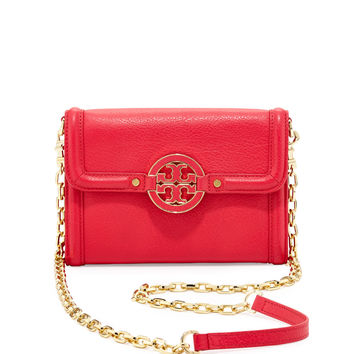 Amanda Wallet On A Chain, Hot Pink - Tory Burch
