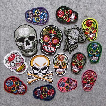 Skull Embroidered Iron on Patches