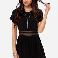 Rhythm My Tee Black Babydoll Dress