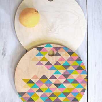 Bianca Green Completely Incomplete Cutting Board Round