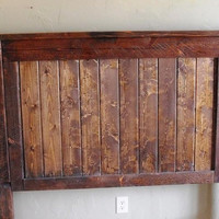 Authentic Solid Wood Handcrafted Rustic Full Headboard (Prices Rise as Bed Size Increases)