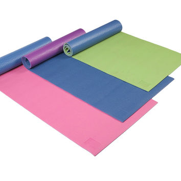 ProFit Pvc Yoga Matt- Reversible 6Mm: 3 Asst Colors