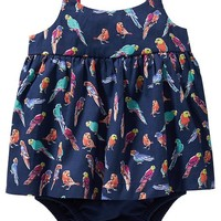 Old Navy 2 In 1 Bird Print Bubble One Piece For Baby