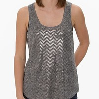 Women's Foil Chevron Tank