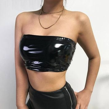 Leather Tube Top