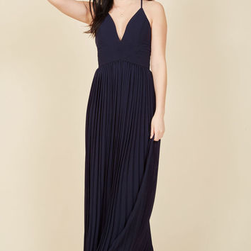 Beautifully By Your Side Maxi Dress in Midnight Blue in L