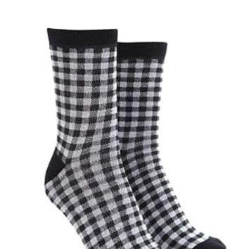 Gingham Crew Socks