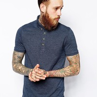 In Pique With Button Down Collar