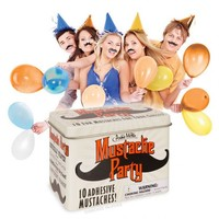 10 Mustache Party Tin Novelty Gift Costume