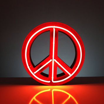 Vintage Marquee Lights NEON Peace Sign