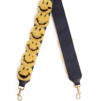 Smiley shearling pompoms bag strap | Anya Hindmarch | MATCHESFASHION.COM US