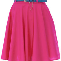 Pink belted circle skirt - Midi skirts - Skirts - Clothing - Dorothy Perkins