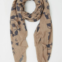 Cats Charms Aplenty Scarf by ModCloth